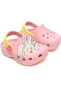Babuche Infantil Plugt Baby My Ittle Pony Fluttershy Rose-Shadow Rosa.