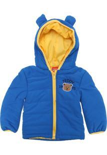 Jaqueta Kyly Menino Teddy Azul/Amarelo