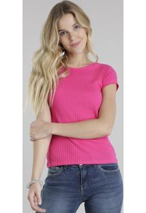 Blusa Básica Canelada Pink