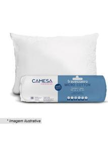Travesseiro Rolinho- Branco- 70X50Cm- Camesacamesa