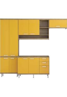 Cozinha Compacta Multimóveis Sicília 5840.132.695 Argila Amarelo Se