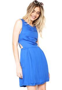 Vestido Ellus Curto Evasê Azul