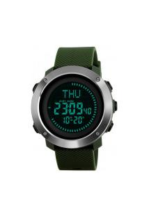 Relógio Skmei Digital -1293- Preto E Verde