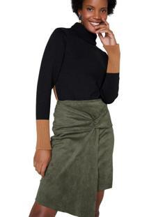 Suéter Tricot Cores Contrastantes