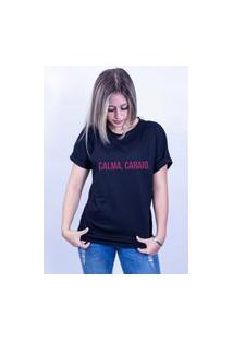 Camiseta Bilhan Corte A Fio Calma Preta