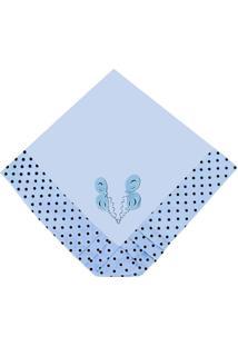 Manta Enxoval Piquet Padroeira Baby Patch Ursinho Azul