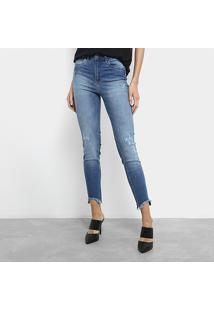 Calça Jeans Skinny Cropped Colcci Cintura Média Feminina - Feminino-Jeans