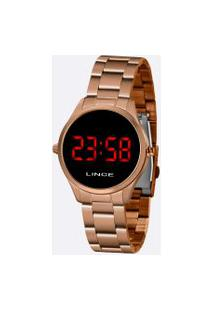 Relógio Feminino Digital Led Lince Mdr4618L Vxrx