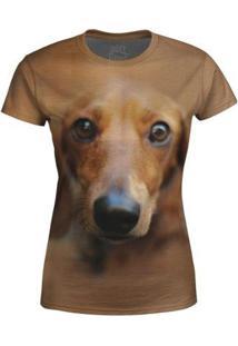 Camiseta Baby Look Feminina Basset Md01 - P - Feminino