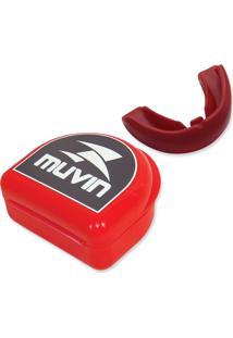 Protetor Bucal Profissional Muvin Ptb-100 - Neutro Vermelho