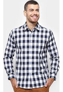 Camisa Xadrez Manga Longa Broken Rules Masculina - Masculino