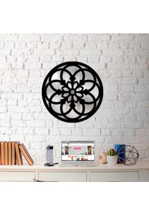 Escultura De Parede Wevans Mandala Circulos + Espelho Decorativo