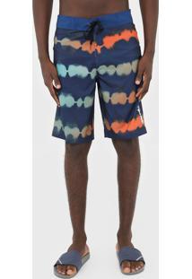 Bermuda ÁGua Red Nose Reta Estampada Azul-Marinho - Azul Marinho - Masculino - Poliã©Ster - Dafiti