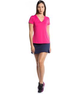 Camiseta Manga Curta Pinyx Gola V Rosa