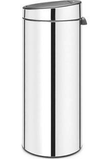Lixeira Touch Bin- Inox & Cinza- 30L- Spicym.Cassab