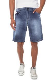 Bermuda Jeans R Rowers Reta Estonada Azul