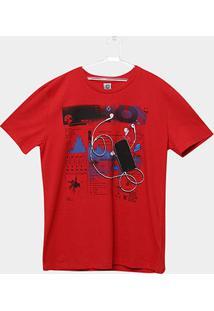 Camiseta Infantil Cativa Estampada Masculina - Masculino
