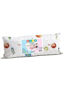Travesseiro Altenburg Para O Corpo Body Pillow Kids In Cotton 30Cm X 65Cm Planetas - Bege Azul - Tricae
