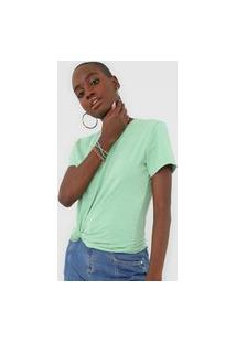 Camiseta Morena Rosa Carimbo Verde