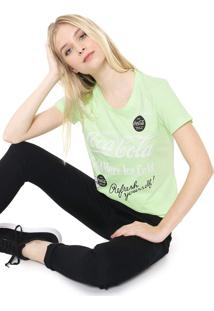 Camiseta Coca-Cola Jeans Lettering Verde