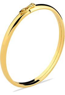Pulseira Toque De Joia Bracelete Algema Grossa - Feminino-Dourado
