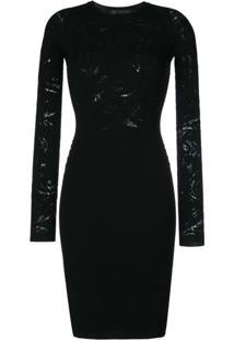 Versace Vestido De Tricot 'Baroque' - Preto