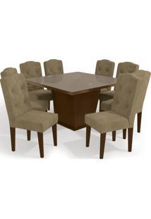 Conjunto Mesa Pitanga Com 8 Cadeiras Wal