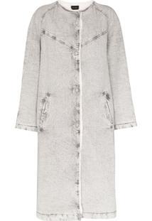 Isabel Marant Kaleia Oversized Denim Coat - Cinza