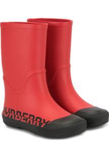 Burberry Kids Galocha Hurston Vermelha - Vermelho
