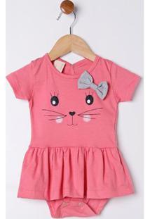 Vestido Infantil Para Bebê Menina - Coral