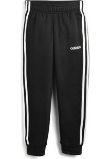 Calça De Moletom Adidas Menino Lisa Preta