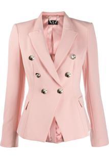 Elisabetta Franchi Double-Breasted Jacket - Rosa