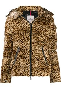 Moncler Bady Animal Print Velvet Jacket - Neutro