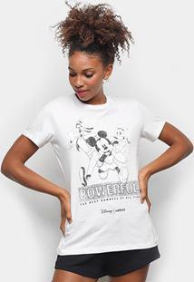 Camiseta Colcci Mickey And Friends Feminina - Feminino-Branco
