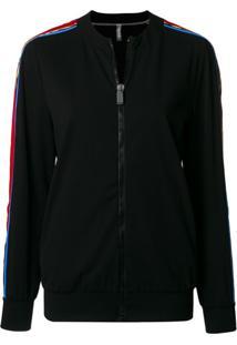 No Ka' Oi Side-Stripe Zipped Jacket - Preto
