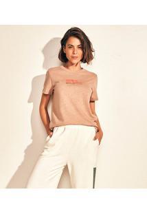 Camiseta Colcci Earth Feminina - Feminino-Chumbo