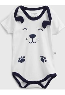 Body Pimpolho Infantil Panda Branco