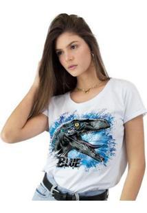 Camiseta Feminina Jurassic World - Feminino-Branco