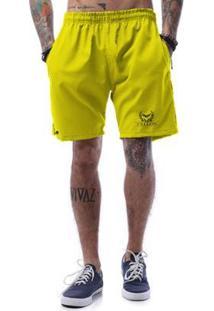 Bermuda Tactel Cellos Olympics Premium Masculina - Masculino-Amarelo Escuro