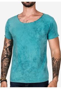 Camiseta Turquesa Marmorizada 102293