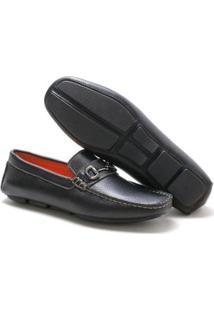 Mocassim Navit Shoes Driver Abridon Masculino - Masculino-Preto