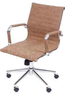 Cadeira Retrô Office Eames Tela Baixa Or Design Caramelo