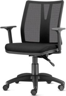 Cadeira Addit Assento Crepe Preto Com Base Arcada Em Nylon - 54122 Sun House