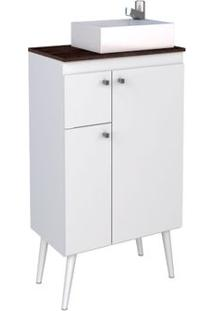 Gabinete De Banheiro Itauma 59,6X35,4Cm Branco Com Dakota Cozimax
