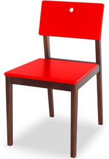 Cadeira Flip 81 Cm 921 Cacau/Vermelho - Maxima