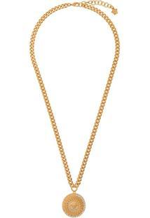 Versace Colar Com Pingente Medusa - Dourado