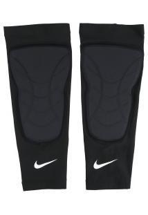 Caneleira De Basquete Nike Hyperstrong Padded Shin Sleeves - Adulto - Preto