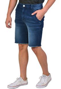 Bermuda Jeans Moletom Cintura Alta Yck'S