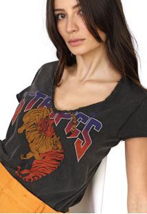 Camiseta Forum Stripes Grafite - Kanui