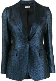 P.A.R.O.S.H. Metallic Single Breasted Jacket - Azul